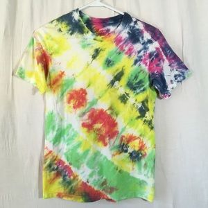 Tie Dye Tee Homemade Vibrant Colorful Hippie Vibes